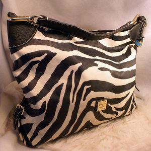 Dooney & Bourke Zebra Black & White Purse Handbag